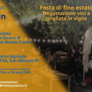 Locandina Festa Estate 2020 - Rotary in Vigna